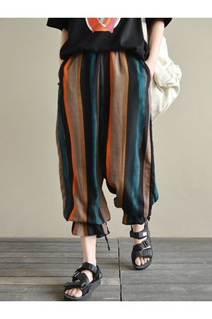 Newchic Vintage Colorful Striped Chiffon Pants