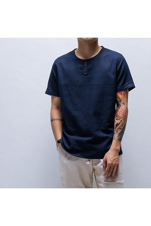 Newchic Chinese Style Cotton Linen Vintage T shirt