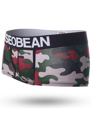 Newchic Cotton Camouflage Printing Boxers