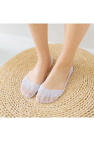Newchic Cotton Lace Anti-skid Invisible Liner Socks Ankle Socks