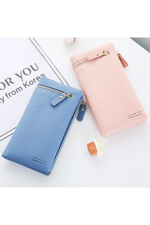 Newchic Stylish Candy Color PU Leather Long Wallet
