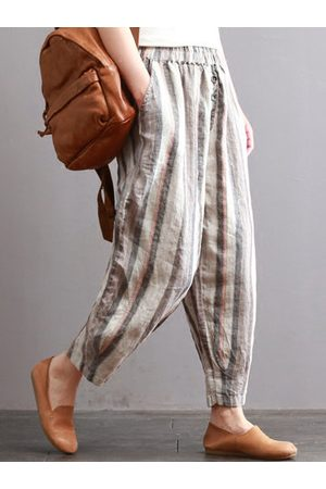 Newchic Vintage Elastic Waist Striped Pants