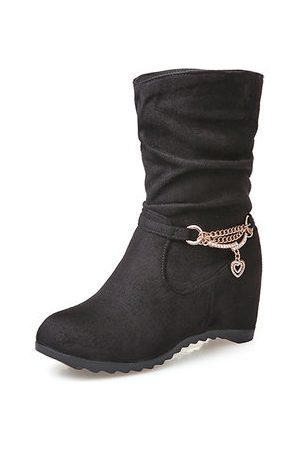 Newchic Plus Size Platform Ankle Boots For Women