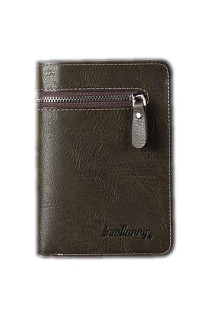 Newchic Men Vintage Casual 14 Card Slots Zipper Short Trifold Wallet
