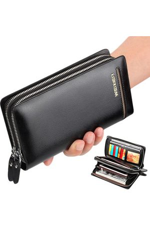Newchic Vintage Double Zipper Larger Capacity Clutch Bag Wallet