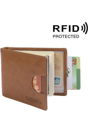 Newchic RFID Antimagnetic Genuine Leather Card Holder Wallet