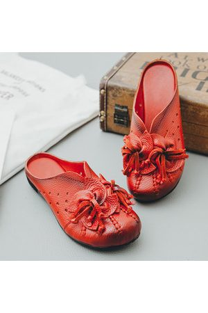 Newchic SOCOFY Soft Flat Leather Slippers