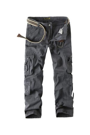 Newchic Men Cargo Pants - 100%Cotton Multi-pocket Cargo Pants