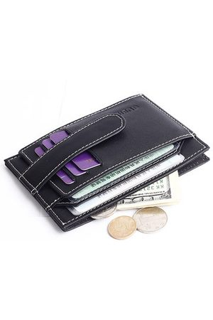 Newchic Men Wallets - Genuine Leather Multi-functional Card Holder Coin Bag Wallet