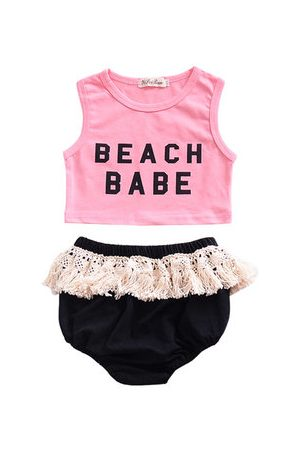 Newchic 2PCS Summer Baby Girls Clothes Suit