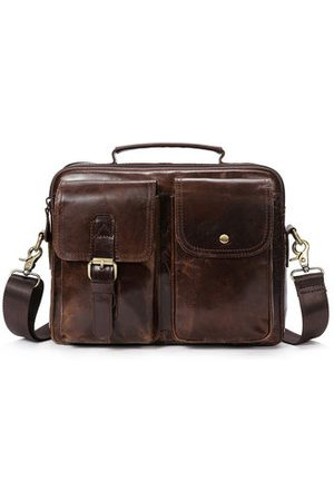 Newchic Vintage Genuine Leather Business Shoulder Bag Crossbody Bag
