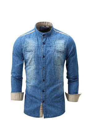 Newchic Men Denim Shirt