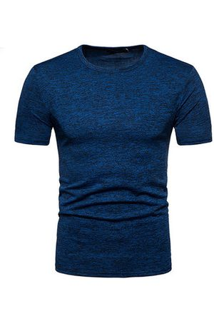 Newchic Solid Color Slim Fit Basic Casual T Shirt