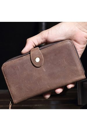 Newchic Vintage Genuine Leather Large Capacity Clutch Bag Wallet