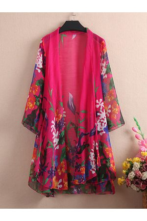 Newchic Floral Printed 3/4 Sleeve Kimonos