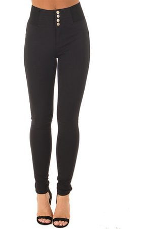 Newchic Women Stretch Pants - Casual Solid High Waist Stretch Pencil Pants