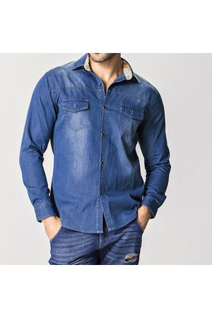 Newchic Men Denim - Men Denim Shirt