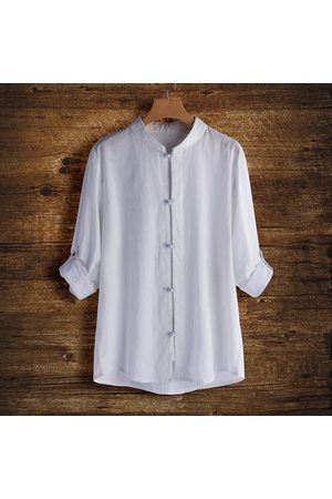 Newchic Retro Soft Cotton Linen Shirts