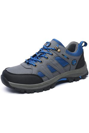 Newchic Men Leather Anti-collision Outdoor Shock Absorption Sneakers
