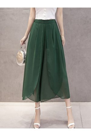 Newchic Casual Chiffon Irregular Pants