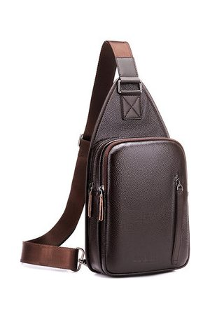 Newchic Large Capacity Business Casual Chest Bag Crossbody Bag
