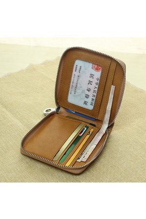 Newchic Women Men Small Short Zipper Purse Wallets