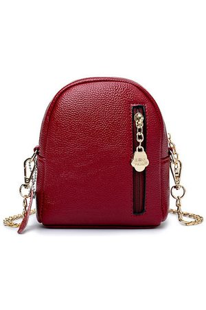 Newchic Women PU Leather Solid Multi-function Phone Bag