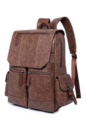 Newchic Vintage Large Capacity Casual 16 Inch Laptop Bag Backpack