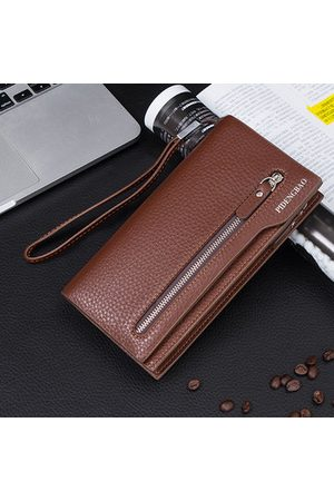 Newchic Men Universal 5.5'' Mobile Phone Purse Pu Leather Wallet Card Holder For iPhone Samsung Xiaomi Sony