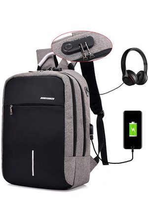 Newchic Men Laptop Bags - Business USB Charging Port 16 Ince Laptop Bag Backpack