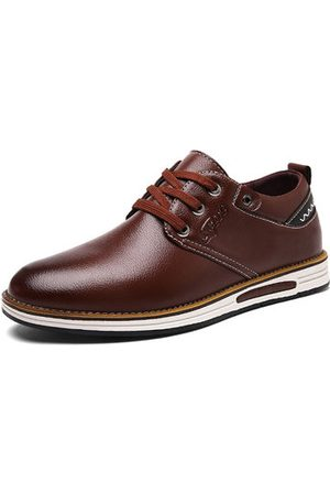 Newchic LANMARH Men Soft PU Leather Business Casual Shoes