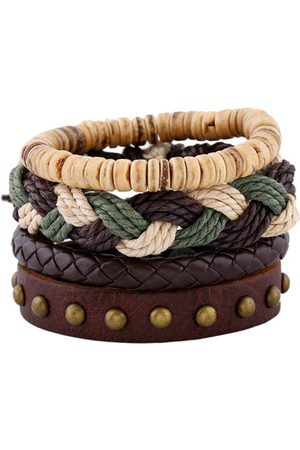 Newchic Woven Leather Braided Beaded Bracelets