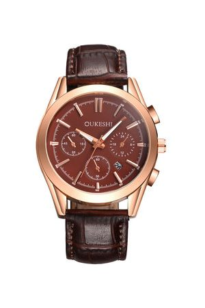 Newchic Men's Leather Business Watches