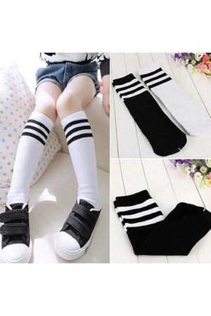 Newchic Girls Boys Football Stripes Socks