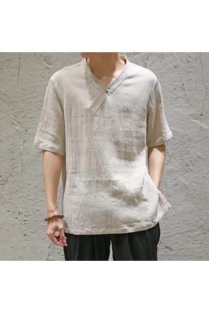 Newchic Chinese Style Linen Thin Cool T Shirt