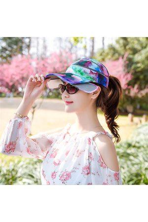 Newchic Women Summer Retractable Visor Empty Top Hat
