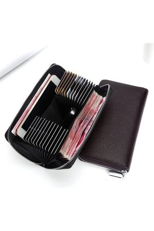 Newchic Genuine Leather 24 Card Slots Long Wallet
