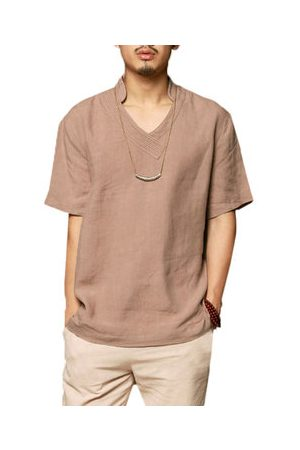 Newchic Chinese Style Cotton Linen Loose T Shirts