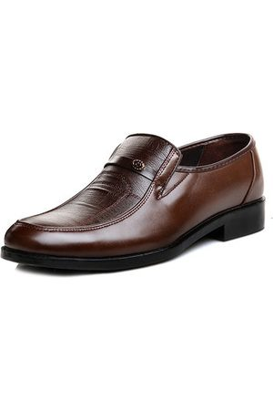 Newchic Men Soft Leather Slip On Business Casual Shoes