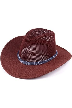 Newchic Mens Mesh Breathable Wide Brim Fedora Jazz Hat Outdoor Casual Beach Sun Flax Panama Caps