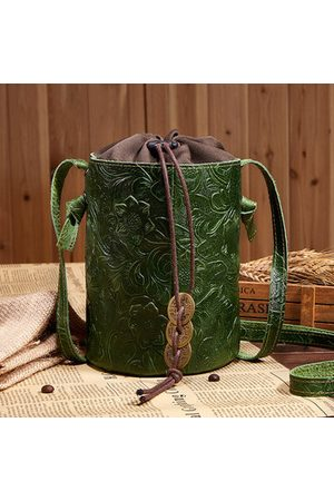 Newchic Brenice Embroidery Drawstring Bucket Bags Chinese Style Bags