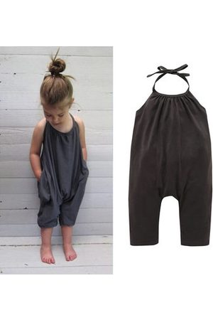 Newchic Girls Summer Backless Overalls