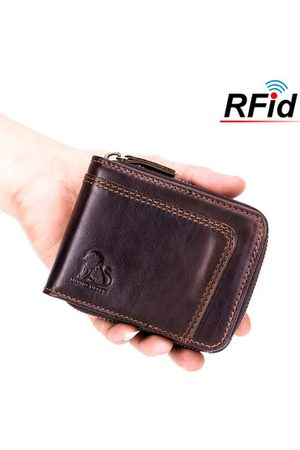 Newchic RFID Antimagnetic Vintage Genuine Leather Trifold Wallet