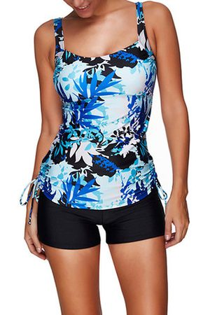 Newchic Printed High Elasticity Sliming Tankini Sets