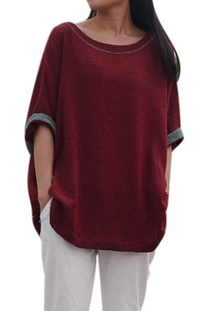 Newchic Vintage Batwing Sleeve Two-tone Shirts