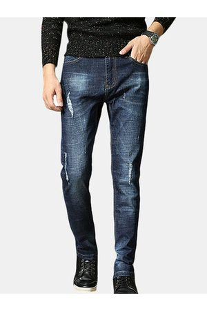 Newchic Washed Mid Waist Straight Jeans