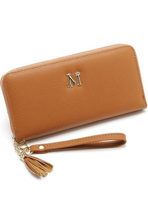 Newchic Women Solid PU Leather Phone Bag 8 Card Slot Wallet