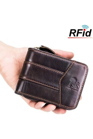 Newchic Vintage RFID Antimagnetic Genuine Leathe Trifold Wallet