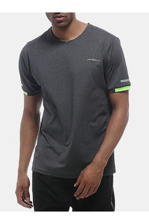 Newchic Men T-shirts - Quick Dry Breathable Workout T Shirts