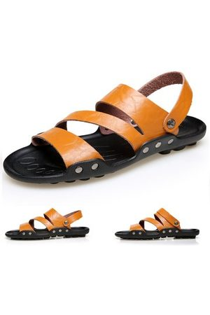 Newchic Large Size Men Leather Sandals